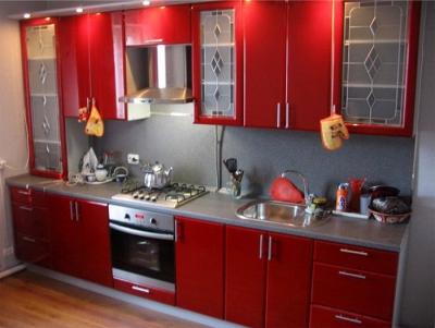 Красная кухня дешево